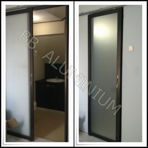 Pintu Kaca Sliding Frame Aluminium